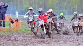 Olerex motokrossi noortesarja teine etapp toimus rajudes ilmaoludes