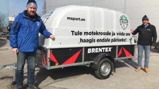 Motokrossi meistrivõistlustel läheb taas loosi Brentexi autohaagis