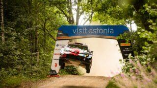 Kalle Rovanperä ja Jonne Haltunen juhivad WRC Rally Estoniat
